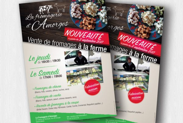 Flyer – Fromagerie Amorges